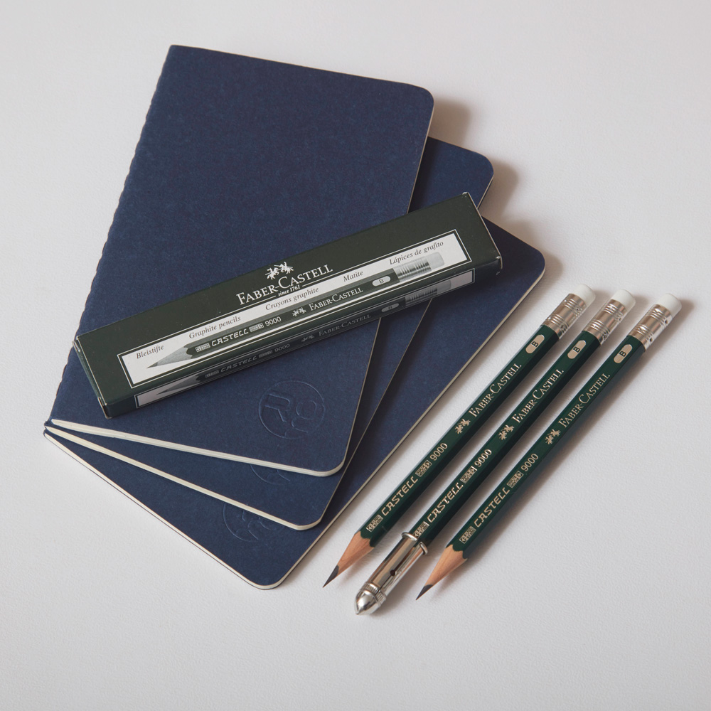 RichingsGreetham Moleskine Notebook & Faber-Castell Pencils