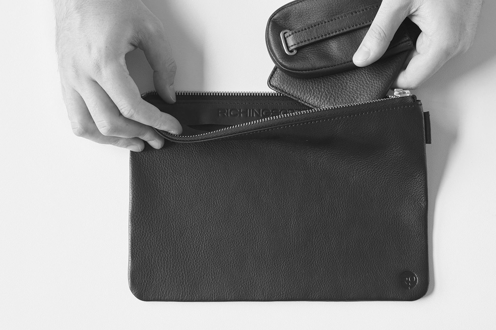 RichingsGreetham Leather Travel Pouch for Everyday Carry Essentials