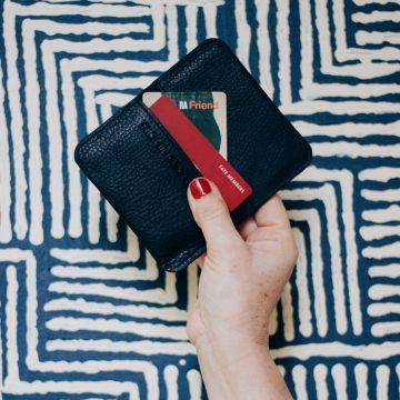 Black Leather Card Fold