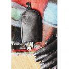 Black Leather Key Pouch