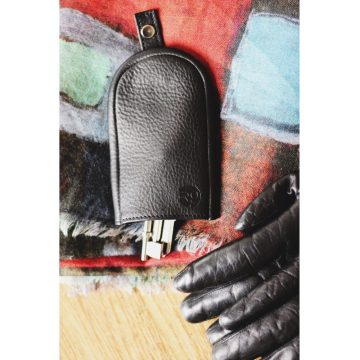 Black Leather Key Pouch