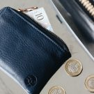 Navy Leather Day Zip Wallet