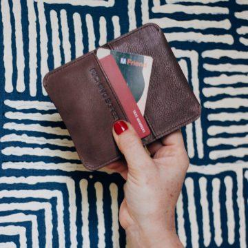 Tan Leather Card Fold
