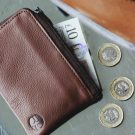 Tan Leather Day Zip Wallet