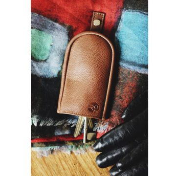 Tan Leather Key Pouch