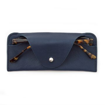 Navy Soft Glasses Case