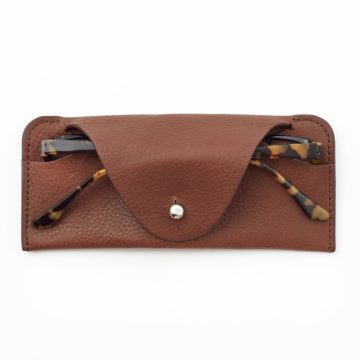 Tan Soft Glasses Case