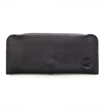 Black Soft Leather Glasses Case 2