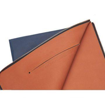 Navy Folio Laptop Sleeve Open