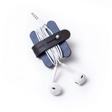 Navy Headphone Cable Tidy