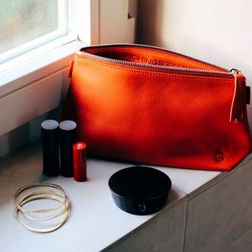 Orange Cosmetics Pouch Small Washbag