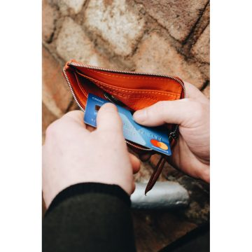Orange Day Zip Wallet Lifestyle
