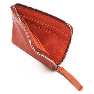 Orange Day Zip Wallet Open