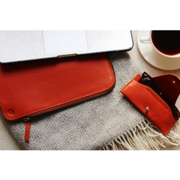 Orange Folio Laptop Sleeve Lifestyle