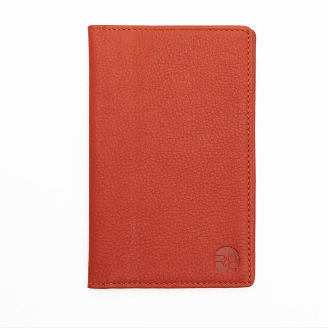 Orange Note Book And Passport Holder