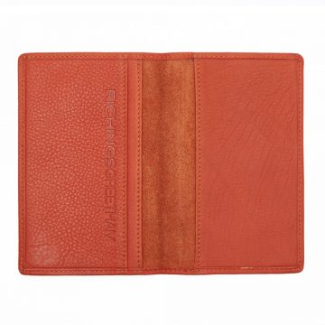 Orange Note Book And Passport Holder Open 1