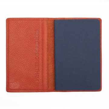Orange Note Book And Passport Holder Open 2