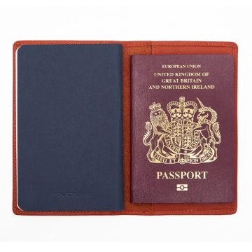 Orange Note Book And Passport Holder Open 3