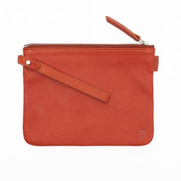 Orange Pouch With Strap