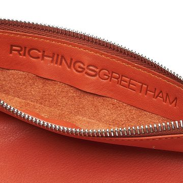 Orange-Pouch-With-Strap-Open