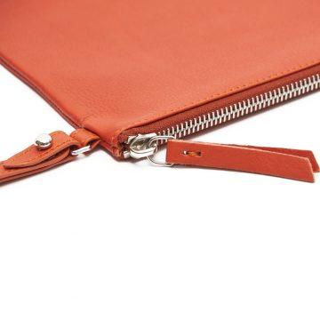 Orange-Pouch-With-Strap-Zip