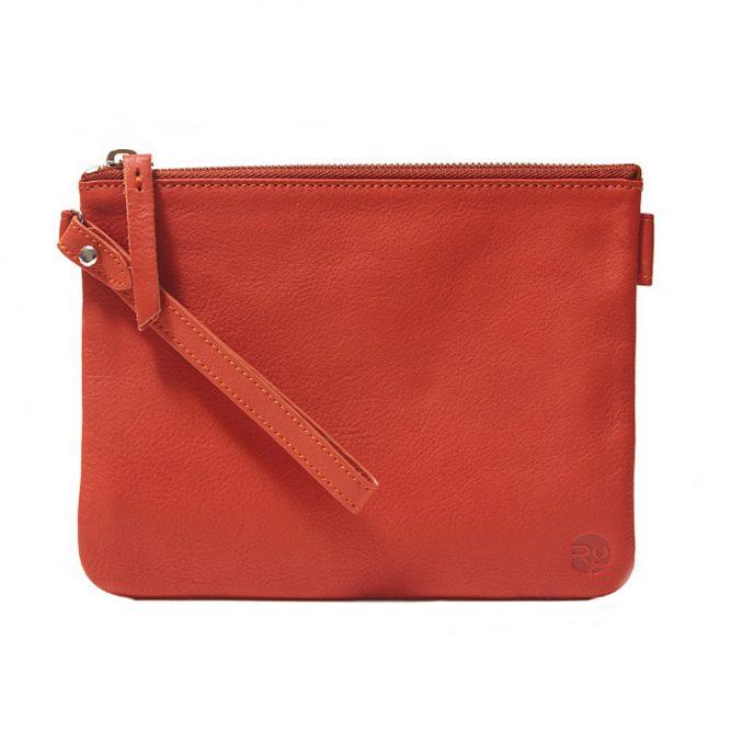 Orange Pouch with Strap