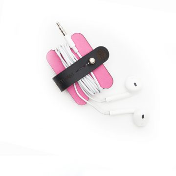 Pink Headphone Cable Tidy