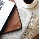 Tan Folio Laptop Sleeve