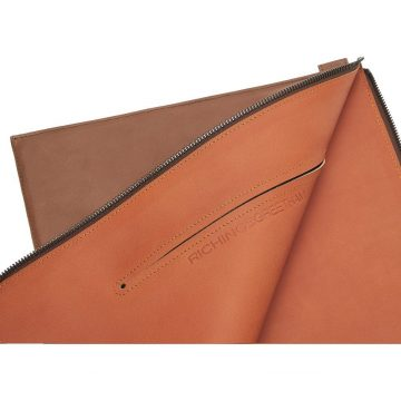 Tan Folio Laptop Sleeve Open