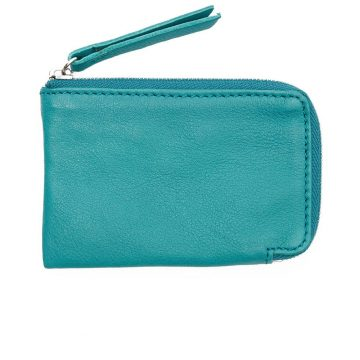 Teal Day Zip Wallet Back