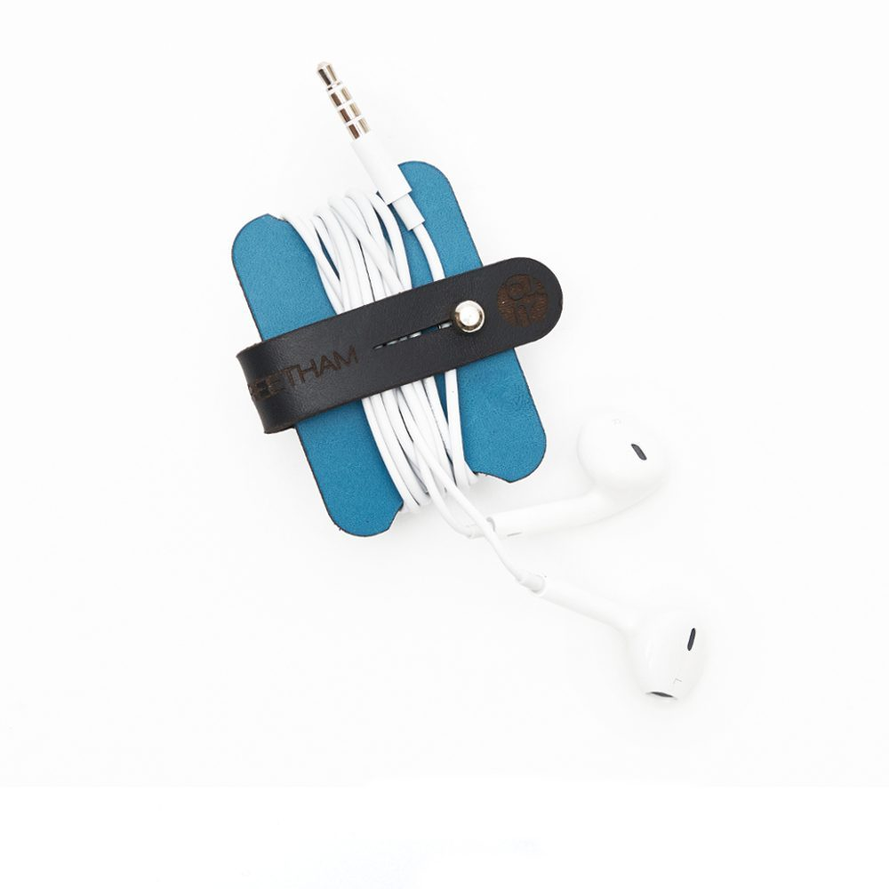 Teal Headphone Cable Tidy