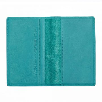 Teal Note Book And Passport Holder Open 1