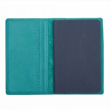 Teal Note Book And Passport Holder Open 2