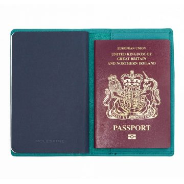 Teal Note Book And Passport Holder Open 3