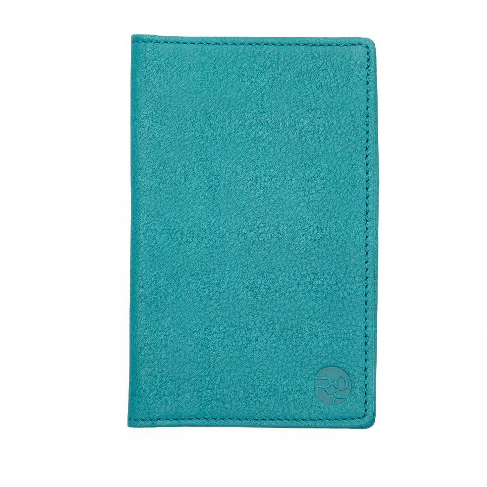 Teal Note Book And Passport Holder