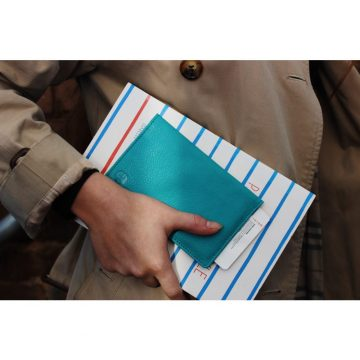 Teal Notebook & Passport Holder