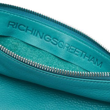 Teal-Pouch-With-Strap-Open