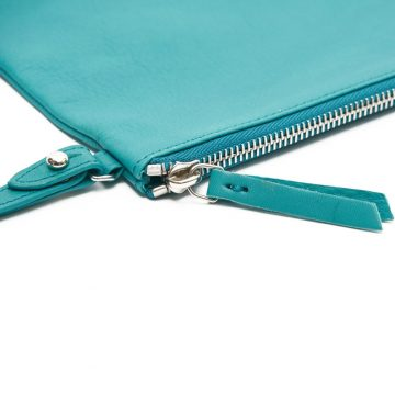 Teal-Pouch-With-Strap-Zip