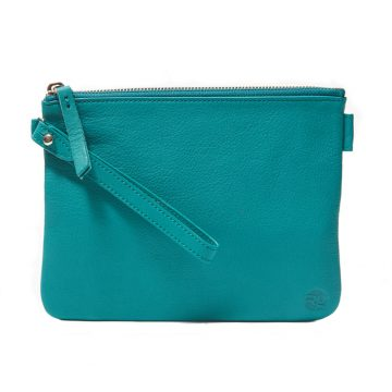 Teal Pouch with Strap