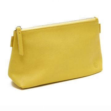 Yellow Cosmetics Pouch Small Washbag