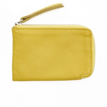 Yellow Day Zip Wallet Back
