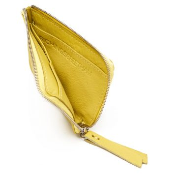 Yellow Day Zip Wallet Open