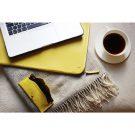 Yellow Folio Laptop Sleeve And Soft Glasses Case Lifestyle