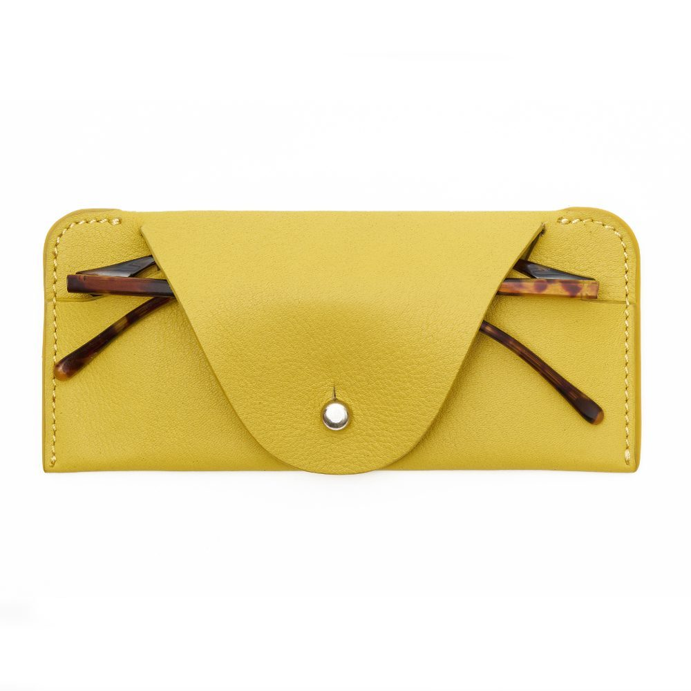 Yellow Soft Glasses Case