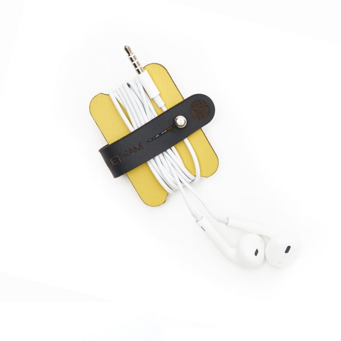 Yellow Headphone Cable Tidy