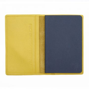 Yellow Note Book And Passport Holder Open 2