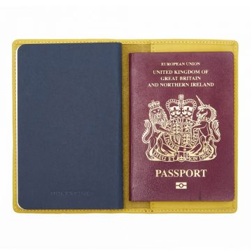 Yellow Note Book And Passport Holder Open 3