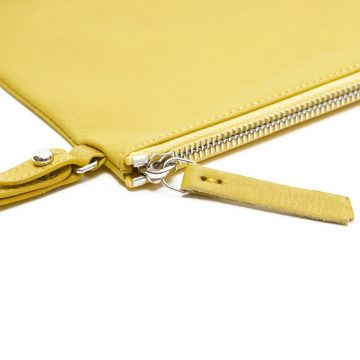 Yellow-Pouch-With-Strap-Zip