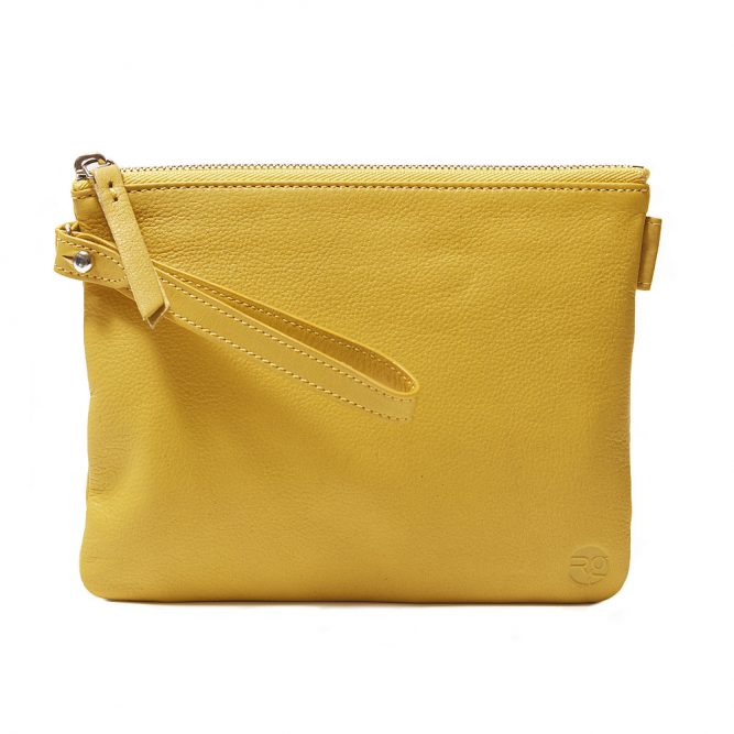 Yellow Pouch with Strap